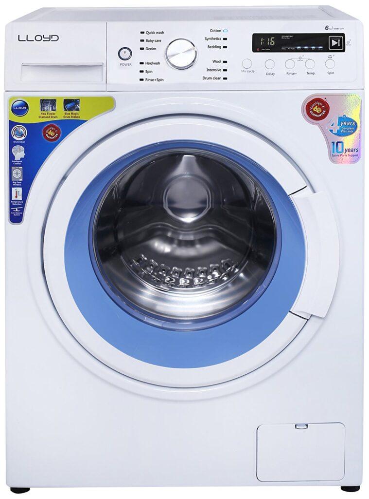 lloyd 6 kg, washing machine price, fully-automatic, washing machine, front load, washing machine price under 30000