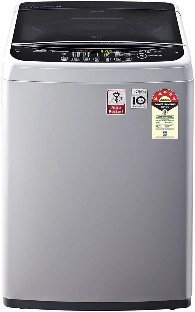 lg 6.5 kg smart inverter, washing machines, fully-automatic, top loading, lg washing machine