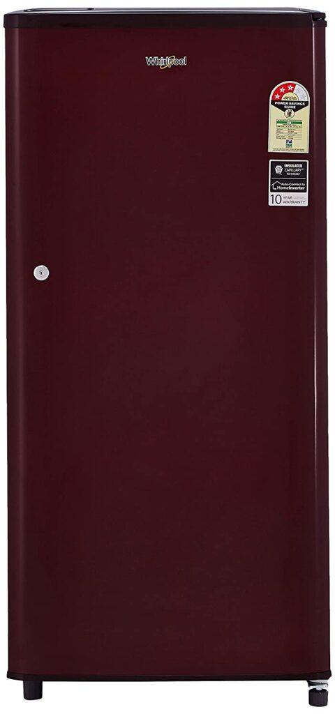 whirlpool 190L, single door fridge, fridge, refrigerator, fridge under 15000, single door refrigerator