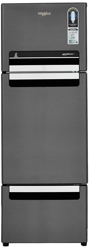 whirlpool 240 L triple door fridge, fridge, refrigerator, fridge under 25000