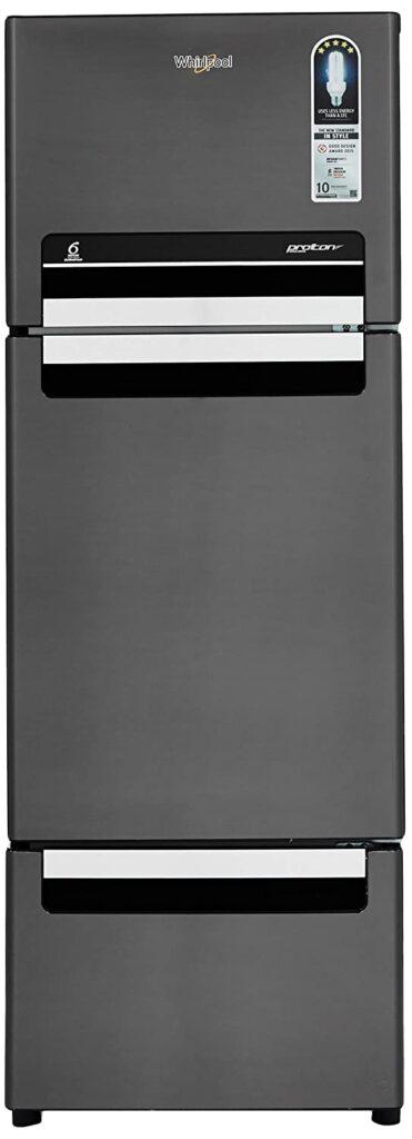 whirlpool 260 L triple door fridge, fridge, refrigerator, fridge under 25000