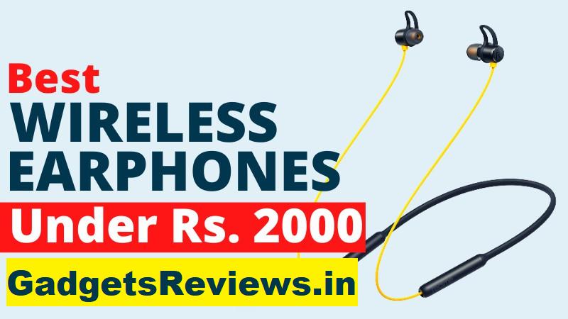 wireless earphone, neckband, Bluetooth earphone