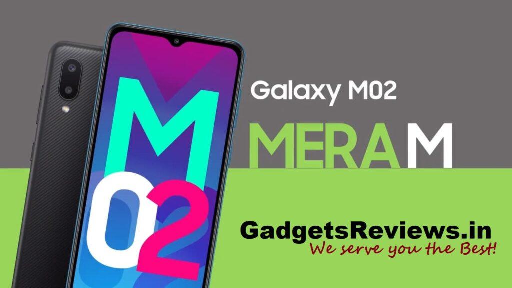 Samsung Galaxy M02, Samsung Galaxy M02 mobile phone, Samsung Galaxy M02 specifications, Samsung Galaxy M02 phone price, Samsung Galaxy M02 phone launching date in India, Samsung Galaxy M02 spects, amazon
