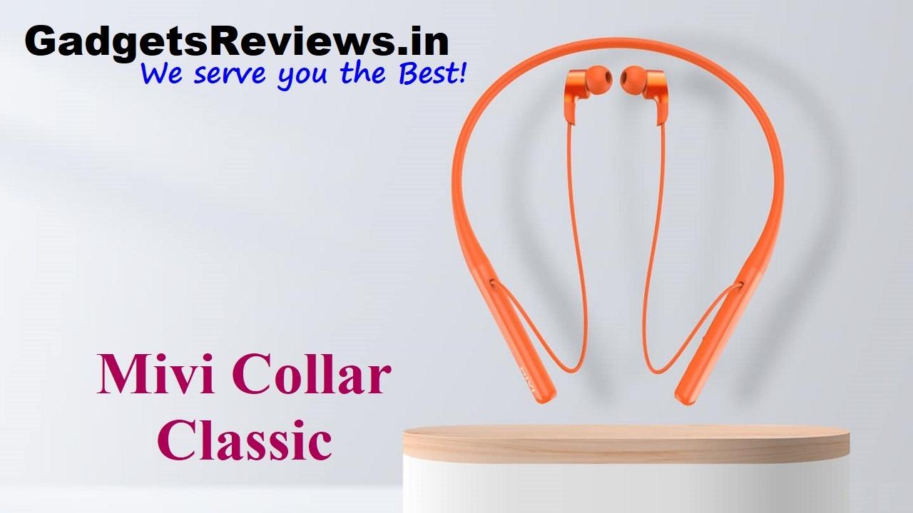 Mivi Collar Classic, Mivi Collar Classic neckband, Mivi Collar Classic bluetooth earphones, neck band under 1k, neckband mivi, bluetooth earphones, flipkart
