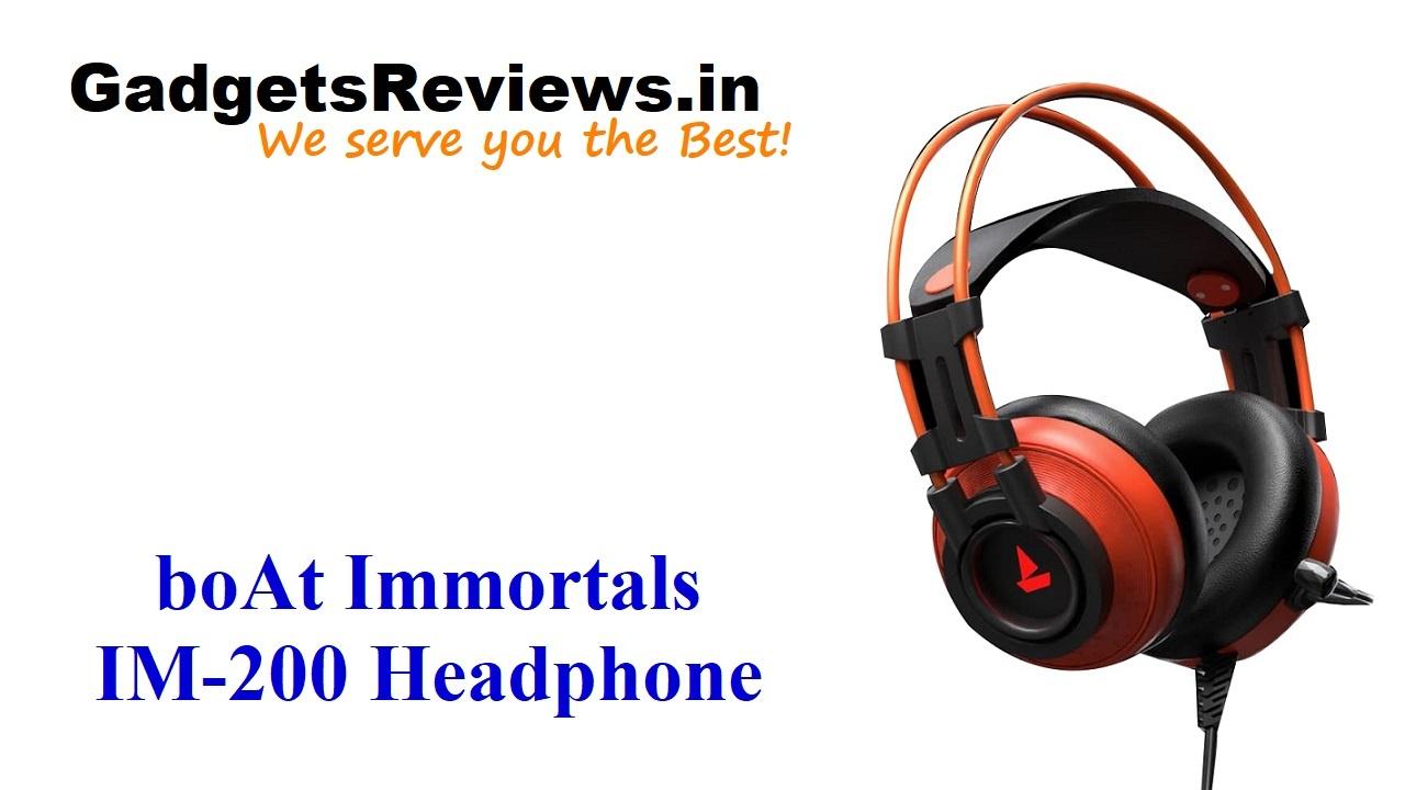 boAt Immortals IM-200, Immortals IM-200 headphone, boat headphones, wired headphones, gaming headphones, amazon, boAt Immortals IM-200 price, boAt Immortals IM-200 specifications, boAt Immortals IM-200 headphone launching date in India, boAt Immortals IM-1000D, boAt Immortals headphone series