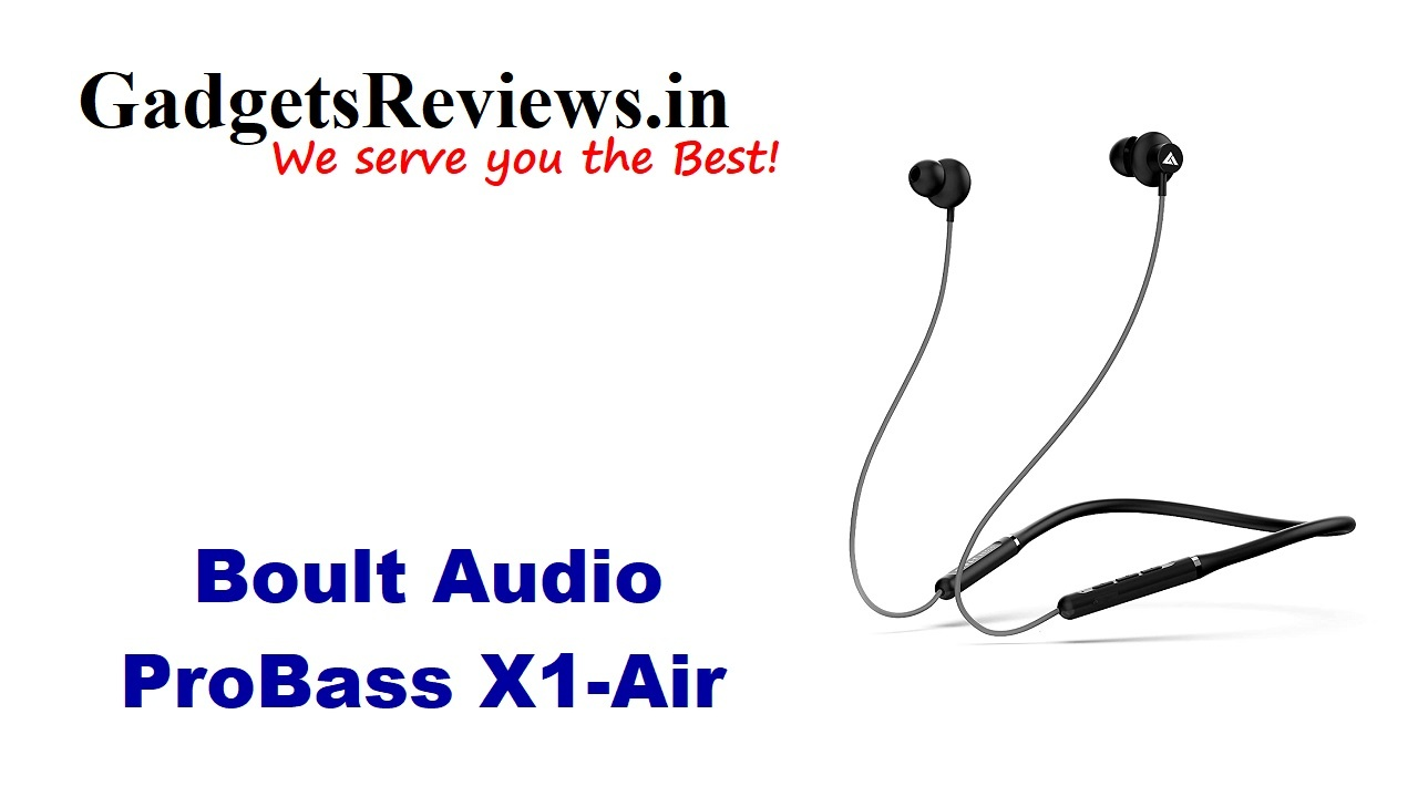 Boult Audio ProBass X1 Air, Boult Audio ProBass X1 Air neckband, Boult Audio ProBass X1 Air wireless handset price, Boult Audio ProBass X1 Air earphone specifications, Boult Audio ProBass X1 Air bluetooth neckband launching date in India, neck band under 1k, neckband, Boult Audio ProBass X1 Air spects, Boult Audio ProBass X1 Air launch date, amazon